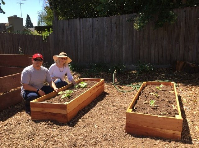 New raised beds give access to more student plantings.