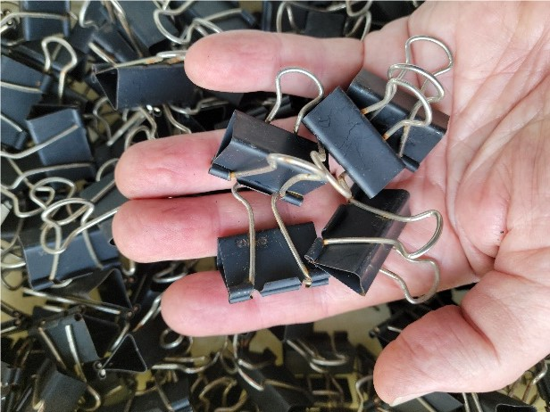 How many ways can you use stationery clips in your garden?
